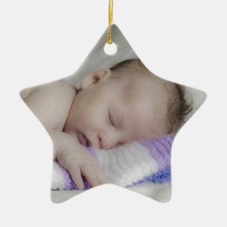 Beautiful Sleeping Newborn Baby Christmas Ornament