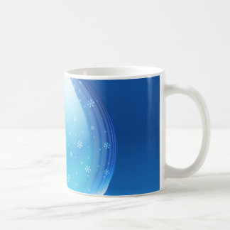 Beautiful snow globe basic white mug