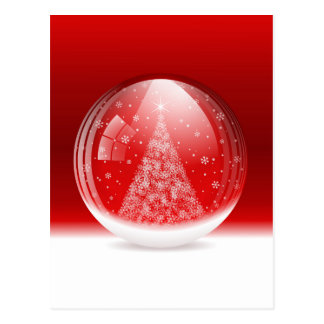 Beautiful snow globe postcard