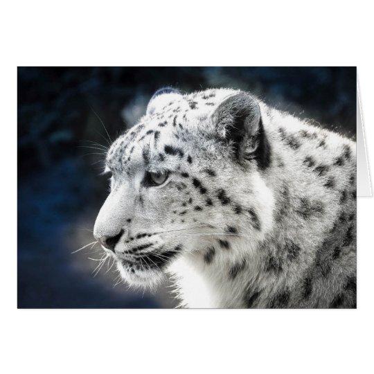 Beautiful Snow Leopard Greeting Card