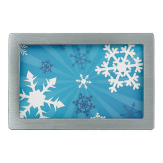 Beautiful Snowflakes Rectangular Belt Buckle
