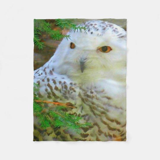 Beautiful Snowy Owl Fleece Blanket