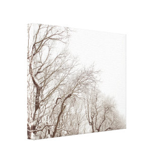 Beautiful snowy trees canvas gallery wrapped canvas