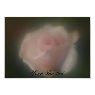 Beautiful Soft Focus Lens Pink Rose Your Invited 13 Cm X 18 Cm Invitation Card
