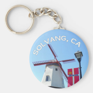 Beautiful Solvang Keychain! Basic Round Button Key Ring
