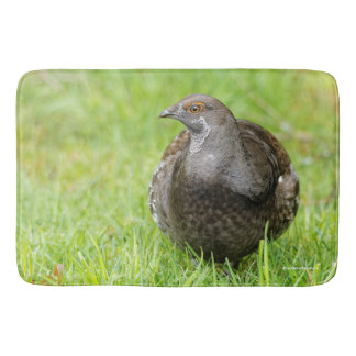 Beautiful Sooty Grouse in the Grass Bath Mat