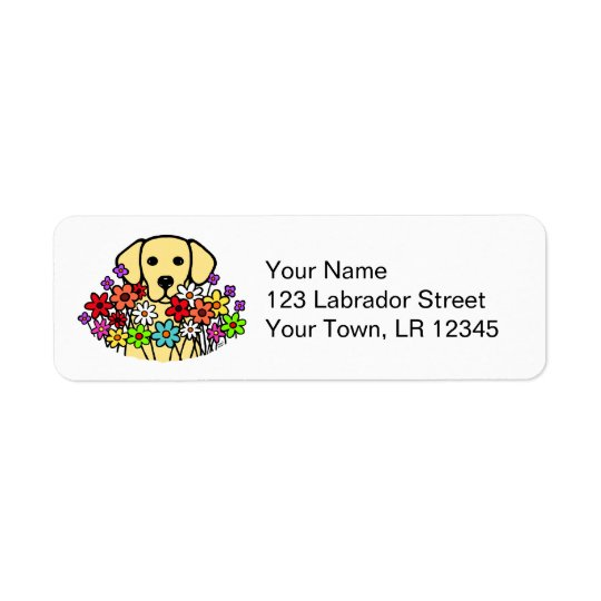 Beautiful Soul Yellow Labrador Illustration Return Address Label