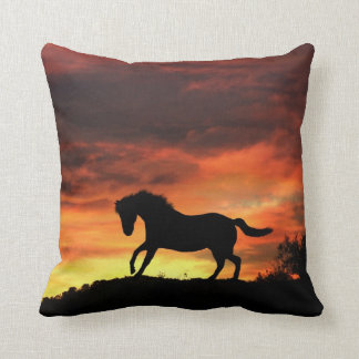 Beautiful Southwestern Colors Horse and Sunset Cushion