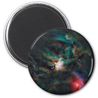 beautiful space image 6 cm round magnet