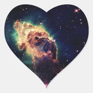 Beautiful Space Nebula Heart Sticker