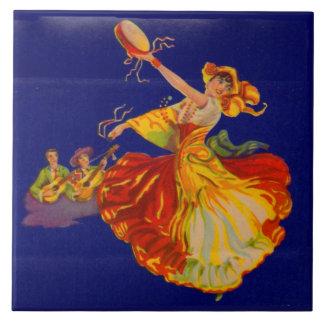 beautiful Spanish dancer Tile
