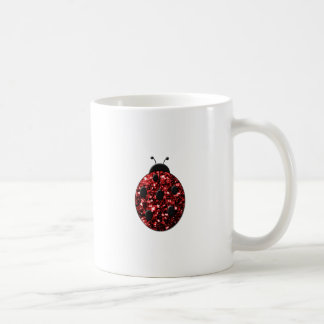 Beautiful Sparkling red sparkles Ladybird Ladybug Coffee Mug
