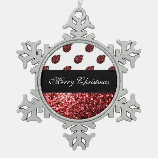 Beautiful Sparkling red sparkles Ladybird Ladybug Ornament
