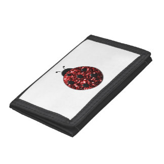 Beautiful Sparkling red sparkles Ladybird Ladybug Trifold Wallet