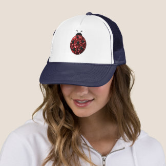 Beautiful Sparkling red sparkles Ladybird Ladybug Trucker Hat