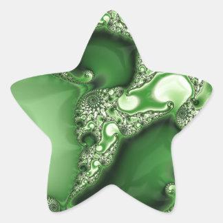 Beautiful Spearmint Fractal Lace Star Sticker