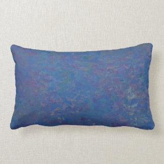 Beautiful speckled light blue cotton pillow