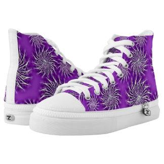 Beautiful Spinning stars energetic pattern purple Printed Shoes