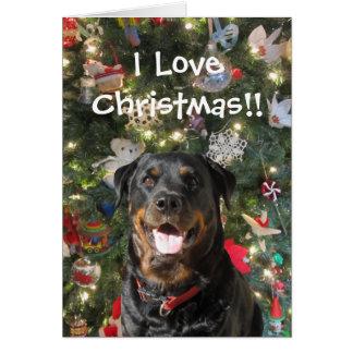 Beautiful Spirit Rottweiler Christmas Card