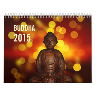 Beautiful Spiritual Buddha Statue 2015 Wall Calendar