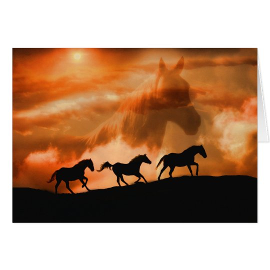 Beautiful Spiritual Horse Sympathy Card with Poem