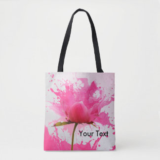 Beautiful Splashing Rose Tote