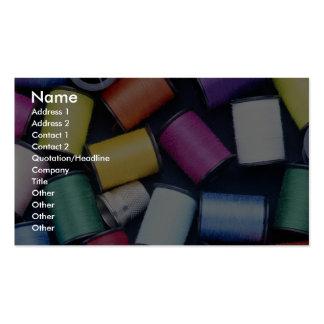 Beautiful Spools of thread Business Card Templates