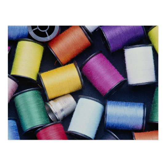 Beautiful Spools of thread Postcard