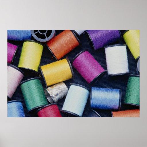 Beautiful Spools of thread Print