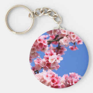 Beautiful Spring Cherry Blossom Basic Round Button Key Ring