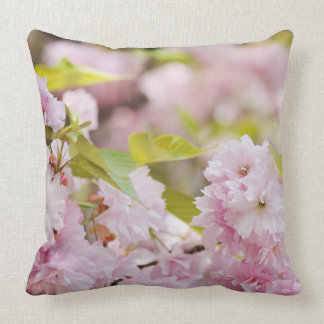 Beautiful spring flowers throw pillow