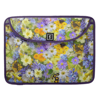 Beautiful Spring Meadow Flowers MacBook Sleeve