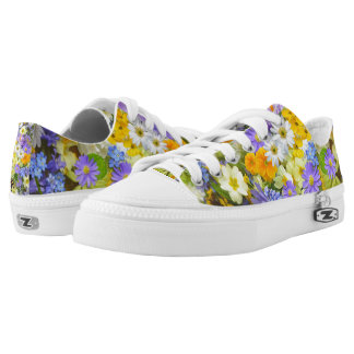 Beautiful Spring Meadow Flowers Zipz Low Top Shoes Printed Shoes