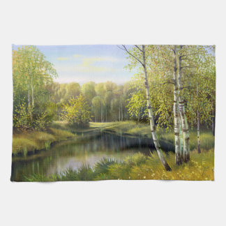 Beautiful Spring Painting Kitchen Towel