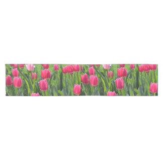 Beautiful spring pink tulip flowers