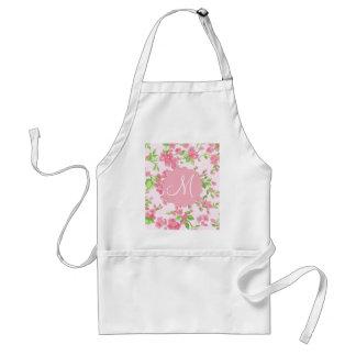 Beautiful Spring pink watercolor peach flowers Standard Apron