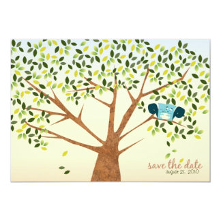 Beautiful Squirrel Tree Save the Date Card
