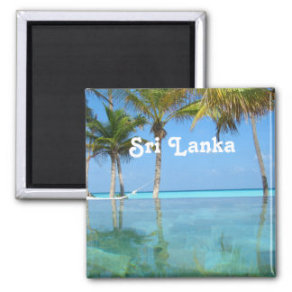 Beautiful Sri Lanka Square Magnet