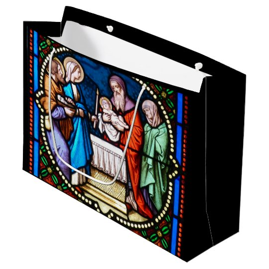 Beautiful Stained Glass Art Large Gift Bag