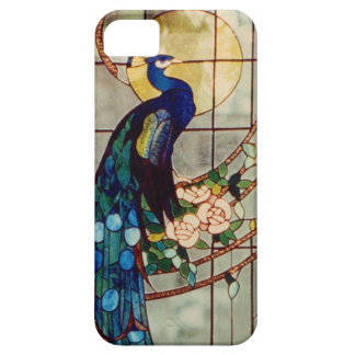 Beautiful Stained Glass Peacock Barely There iPhone 5 Case