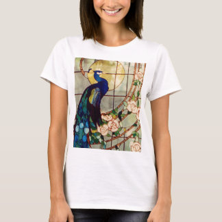 Beautiful Stained Glass Peacock T-Shirt