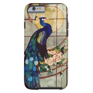Beautiful Stained Glass Peacock Tough iPhone 6 Case