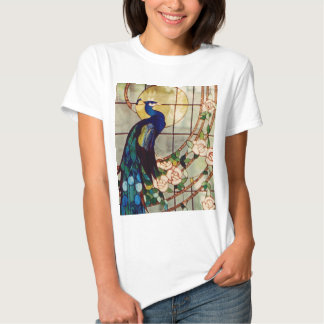 Beautiful Stained Glass Peacock Tshirts