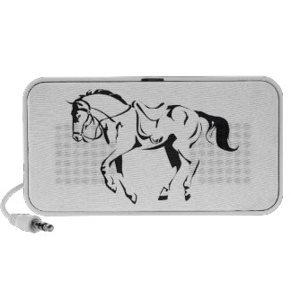 Beautiful Stallion Horse Drawing Doodle Travelling Speakers