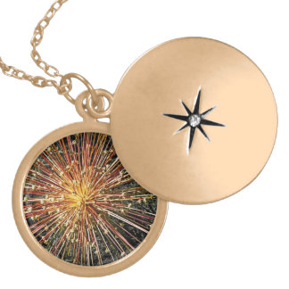 Beautiful star-burst flower on a locket