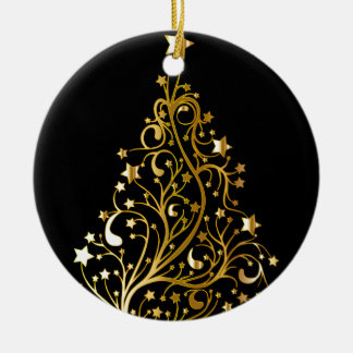 Beautiful starry metallic gold Christmas tree Christmas Ornament