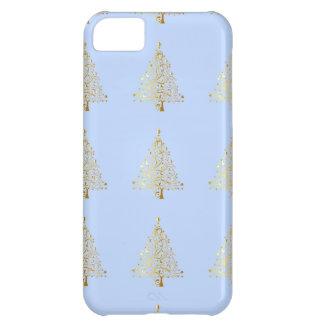Beautiful starry metallic gold Christmas tree iPhone 5C Case