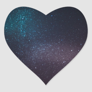 Beautiful starry sky heart sticker