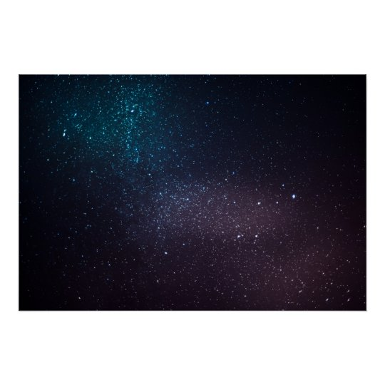 Beautiful starry sky poster