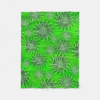 Beautiful stars energetic pattern green blanket
